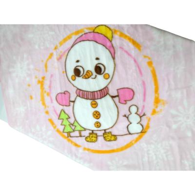 Κουβέρτα κούνιας-Χιονάνθρωπος