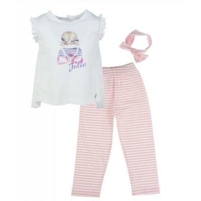 Μπλουζοφόρεμα με κολάν και κορδέλα (Μεγέθη: 1)