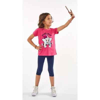 Σετ μπλουζοφόρεμα Flip out & κολάν (Μεγέθη: 1,2,3,4,5,6)