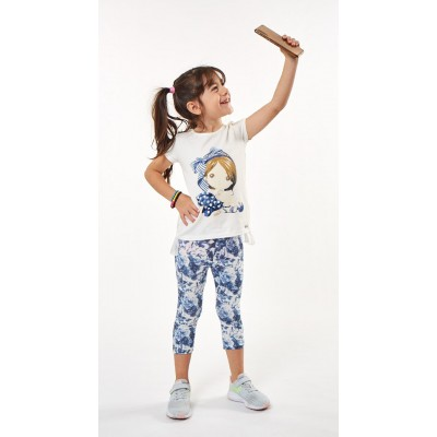 Σετ μπλουζοφόρεμα & εμπριμέ κολάν (Μεγέθη:1,2)