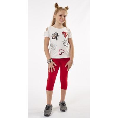 Σετ μπλούζα & κολάν/Καρδούλες (Μεγέθη: 6,14)
