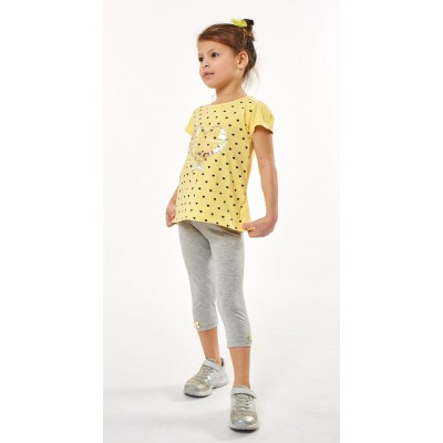 Σετ μπλουζοφόρεμα με καρδούλες & κολάν (Μεγέθη: 1,3,6)