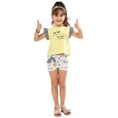 Σετ μπλούζα με σορτς μαργαρίτες & στέκα (Μεγέθη: 1,3)