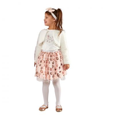 Σετ 3 τμχ με φούστα, μπλουζάκι & μπολερό (Μεγέθη: 3,5,6)