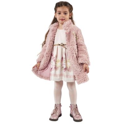 Σετ φόρεμα & γούνινο παλτό (Μεγέθη: 1,2,3,4,5)