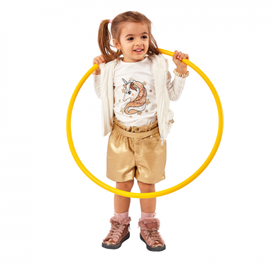Σετ 3 τμχ με σορτς, μπλουζάκι & ζακέτα (Μεγέθη: 1,2,3,4,5,6)