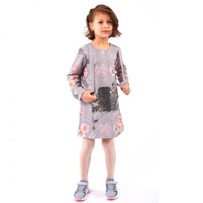 Φόρεμα με πούλιες & τσαντάκι (Μεγέθη: 1,3,4,5,6)