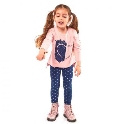 Σετ μπλούζα & κολάν/Καρδούλες (Μεγέθη: 1,2,3,4,5,6)