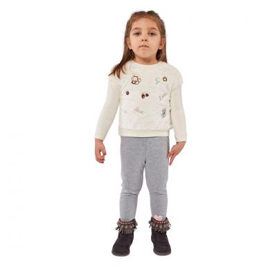 Σετ μπλούζα χνουδωτή & κολάν (Μεγέθη: 6Μ,9Μ,12Μ,18Μ)