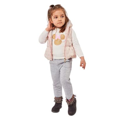 Σετ 3 τμχ με αμάνικο μπουφάν φιογκάκια (Μεγέθη: 6Μ,9Μ,12Μ,18Μ,24Μ)