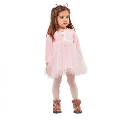 Φόρεμα με τούλι/Κύκνος (Μεγέθη: 6Μ,9Μ,12Μ,18Μ,24Μ)