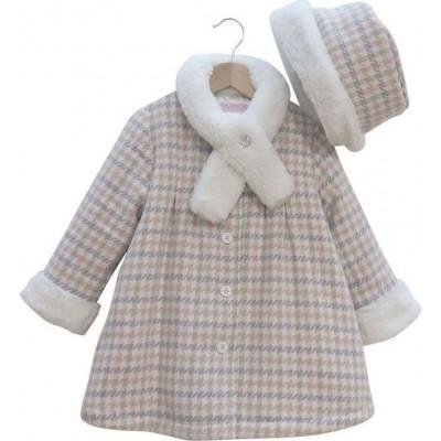 Παλτό με καπέλο (Μεγέθη:3,4)