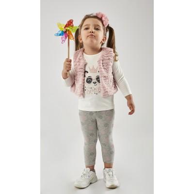 Σετ 3τμχ. μπλούζα,κολάν & αμάνικο γιλέκο smile (Μεγέθη: 6Μ,9Μ,12Μ)