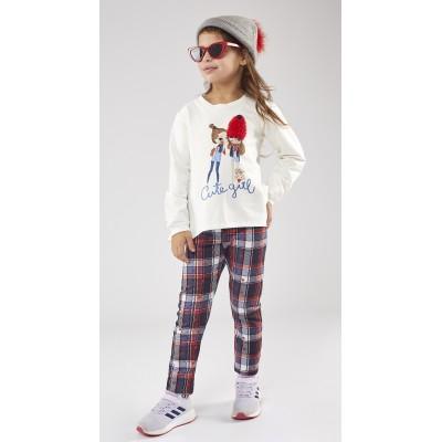Σετ μπλούζα & κολάν καρώ/Cute Girl (Μεγέθη:1,2,3,5,6)