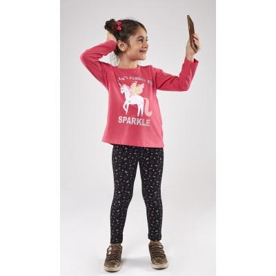 Σετ μπλούζα με πούλιες & κολάν/Μονόκερος Sparkle (Μεγέθη: 1)