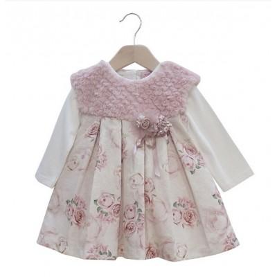 Φόρεμα αμάνικο και μπλουζάκι (Μεγέθη:6-9Μ)