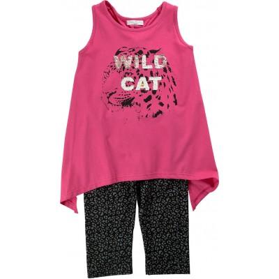 Μπλουζοφόρεμα & κολάν/Wild cat (Μεγέθη: 6,8,12,14)