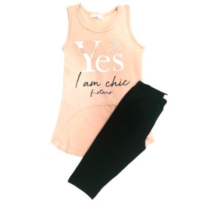 Αμάνικο μπλουζοφόρεμα & κολάν/Yes I am chic (Μεγέθη: 6,8)