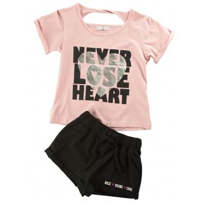 Σετ μπλούζα & σορτς/Heart (Μεγέθη: 6,14)