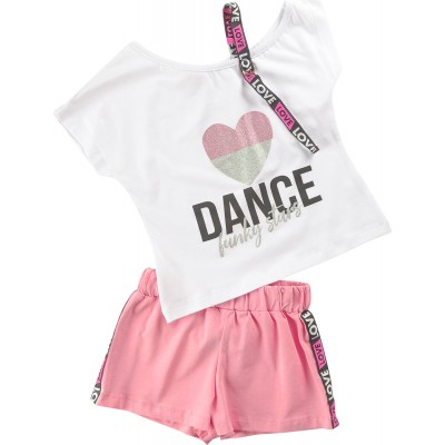 Σετ μπλούζα & σορτς/Dance (Μεγέθη: 6)