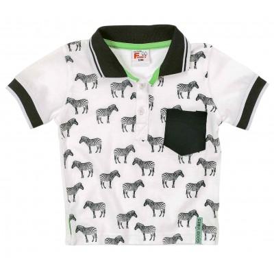 Μπλούζα με γιακά (Μεγέθη: 6Μ,9Μ,12Μ,18Μ,24Μ)