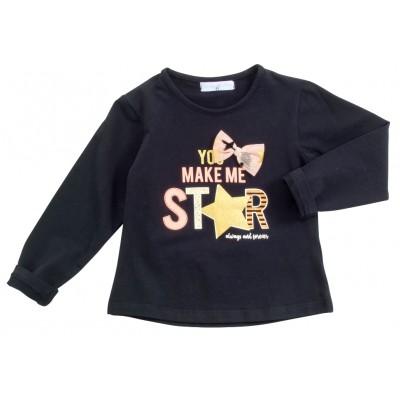 Μπλούζα με φιογκάκι/Make me Star (Μεγέθη: 2,3,4,5,6)