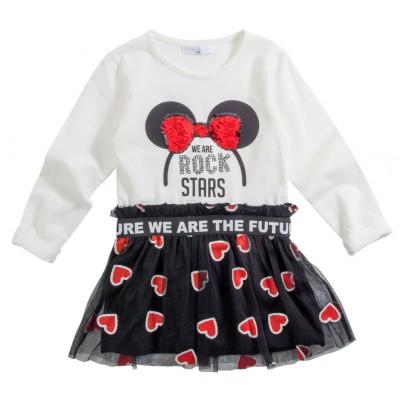 Φόρεμα με πούλιες & τούλι/Rock Stars (Μεγέθη: 2,3,4,6)