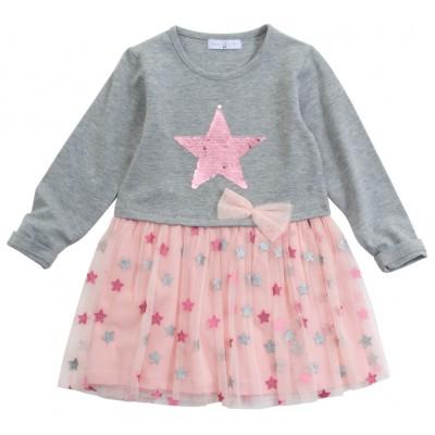 Φόρεμα με πούλιες & τούλι/Αστεράκι (Μεγέθη: 1,2,3,4,5,6)