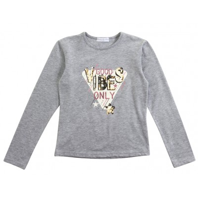 Μπλούζα με πούλιες/Good Vibes (Μεγέθη: 6,8,10,12,14,16)