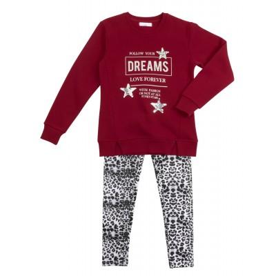 Σετ μπλουζοφόρεμα & κολάν/DREAMS (Μεγέθη: 6,8,10,12,14,16)