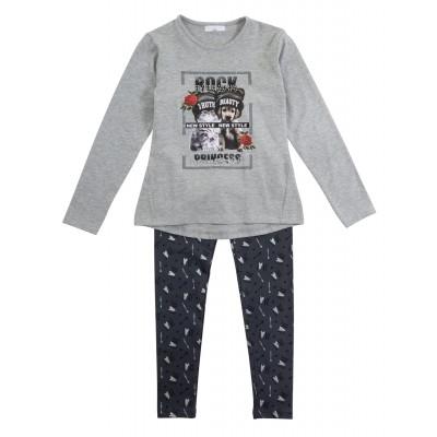 Σετ μπλουζοφόρεμα & κολάν/Rock princess (Μεγέθη: 6,8,10,12,14,16)