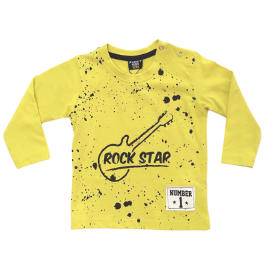 Μπλούζα Rock Star (Μεγέθη: 9Μ,12Μ,18Μ,24Μ)