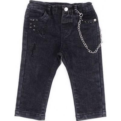 Παντελόνι Τζιν με αλυσίδα (Μεγέθη: 9Μ,18Μ)