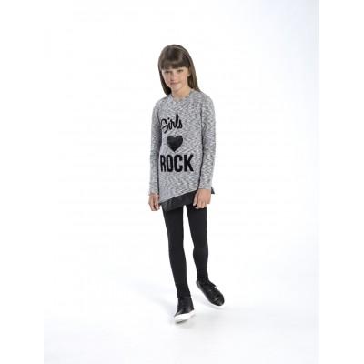 Σετ μπλουζοφόρεμα & κολάν/Girls ROCK (Μεγέθη: 6,8,12,14,16)