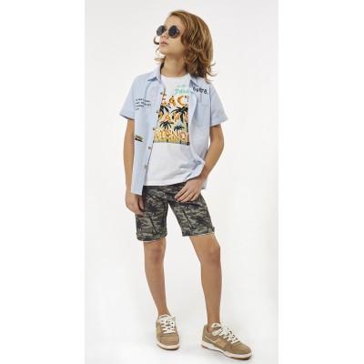Σετ 3 τεμ. μπλούζα,βερμούδα παραλλαγής & πουκάμισο (Μεγέθη: 6,10)