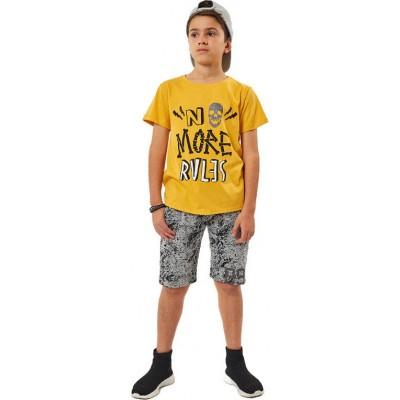 Σετ μπλούζα & βερμούδα/No more Rules (Μεγέθη: 6,10,16)