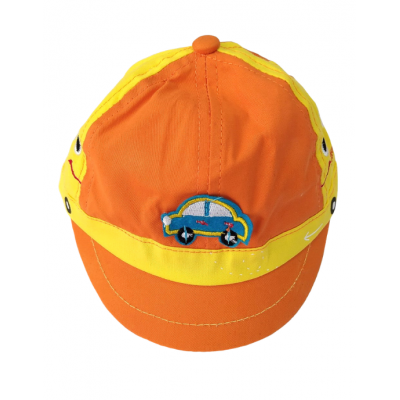 Καπέλο Αυτοκίνητο Πορτοκαλί (Από 6Μ Έως 2ετών)