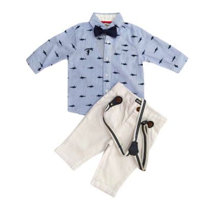 Σετ 4τμχ. πουκάμισο, παντελόνι, τιράντες & παπιγιόν (Μεγέθη: 3Μ)
