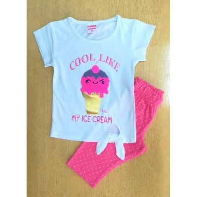 Σετ μπλούζα με πούλιες & κολάν/My ice cream (Μεγέθη: 1,2,4)
