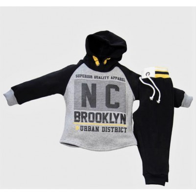 Φόρμα με κουκούλα NC/Brooklyn (Μεγέθη: 1,2,3,4,5,6)