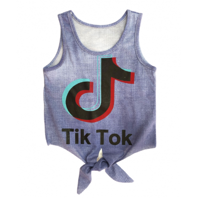 Αμάνικη Μπλούζα Tik Tok (Μεγέθη: 4,6)
