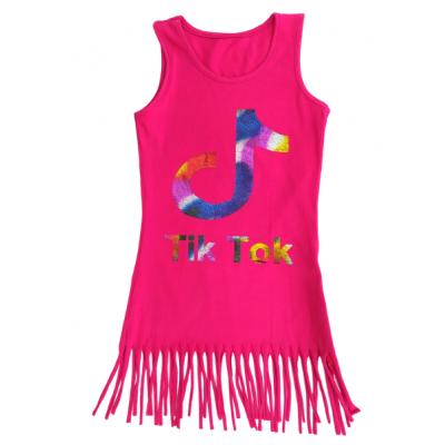 Φόρεμα με κρόσια Tik Tok (Μεγέθη: 4)