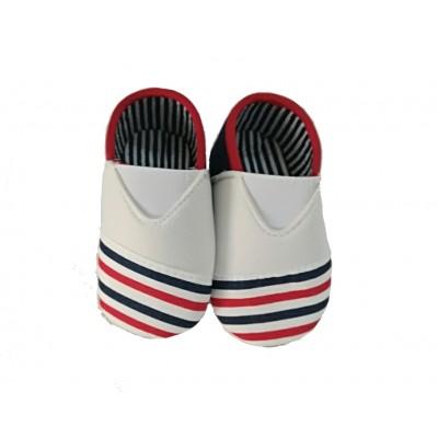 Παπούτσια αγκαλιάς με σχέδιο ρίγες (Μεγέθη: 6-9Μ)