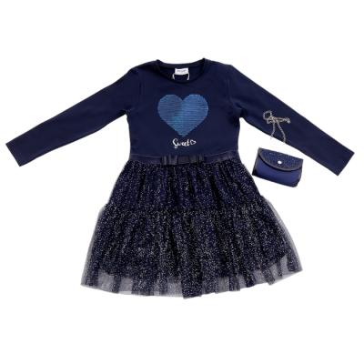Φόρεμα με πούλιες & τσαντάκι/Sweet (Μεγέθη: 6,8,10,12,14,16)