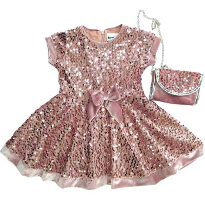 Φόρεμα με πούλιες & τσαντάκι (Μεγέθη: 10,14,16)